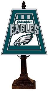 philadelphia eagles art glass table lamp