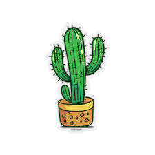 Cactus Sticker Decal Green Plant Nature Laptop Vinyl Cute Waterproof Starcove Fashion