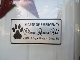 Animal Rescue Decal In Case Of Emergency Fire Rescue Safety Etsy In Case Of Emergency Dog Emergency Animal Rescue