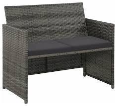vidaxl 2 seater garden sofa with