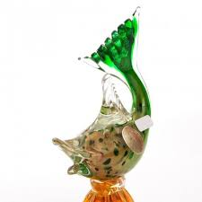 vintage murano glass fish vase for