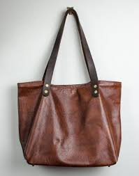 brown leather tote bag shoulder bag