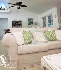 diy amazing drop cloth sofa slipcover