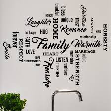 Set Of 35 Family Quote Words Vinyl Wall Decal 1477 Innovativestencils