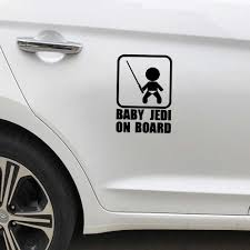 Drop Shipping Baby Jedi On Board Auto Sticker Fun Personality Car Sticker Decal Car Styling Car Stickers Aliexpress