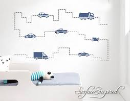 Kids Wall Decal Cars Wall Decals For Boys Vinyl Decal Stickers For Boy Surface Inspired Home Decor Wall Decals Wall Art Wooden Letters