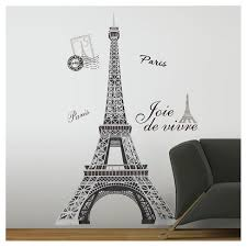 13 Eiffel Tower Peel And Stick Giant Wall Decal Black Roommates Target