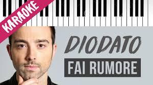 Diodato | Fai Rumore | SANREMO 2020 // Piano Karaoke con Testo ...