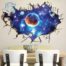 3d Luminous Glow In The Dark Wall Sticker Universe Kids Room Floor Art Decor