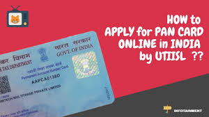 how to apply for pan card uti