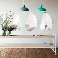frameless freeform wall mirrors