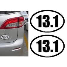 2pc 13 1 Half Marathon Decal Magnet Oval Car Window Running Race Charity Fitness Walmart Com Walmart Com