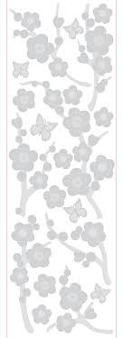 Blossom Etched Glass Contemporary Wall Decals By Wallpops