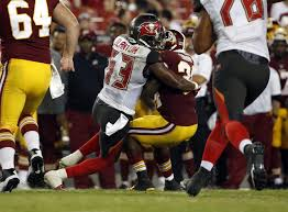 Adarius Glanton carted off field after colliding with Bucs teammate