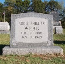 Addie Phillips Webb (1880-1949) - Find A Grave Memorial