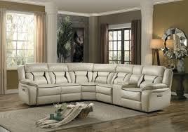 modern beige leather sectional sofa