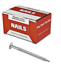 40d ring shank pole barn nails 5 lb