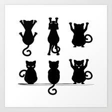 Black Cat Silhouette Art Print By Annartshock Society6
