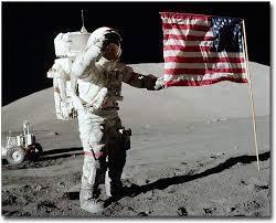 Amazon.com: Apollo 17 Gene Cernan Flag Salute on Moon 8x10 Silver ...