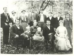 Photograph of the Family of Elder Woody K. Smith, Christmas 1902