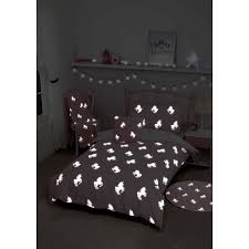 dark unicorn single duvet set