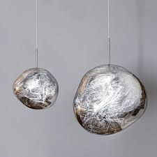 glass ball metal single light pendant