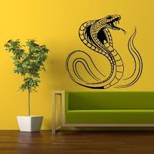 Wall Vinyl Decal Sticker Bedroom Decal Decal Animal Cobra Snake Asp Viper Z337 Vinyl Wall Decals Vinyl Wall Bedroom Decals