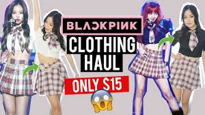 black pink clothes for under 15