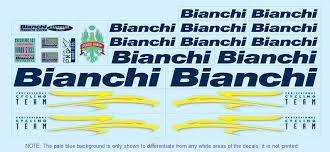 Bicycle Decals For Vintage Classic And Contemporary Bianchi