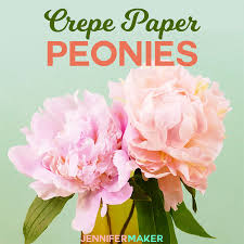 make crepe paper peony flowers that