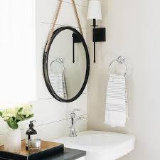 rope hanging vanity mirror design ideas