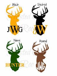 Monogram Deer Decal For Men Yeti Decal Car Laptop Cooler Phone Water Bottle Cricut Monogram Deer Decal Monogram Decal