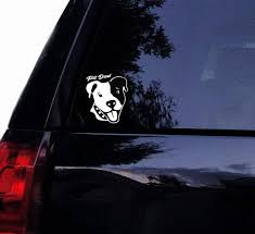 Smiley Pitbull Dad Decal Pit Dad Bully Dog Pit Bull Vinyl Etsy
