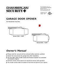 2hp garage door opener user manual