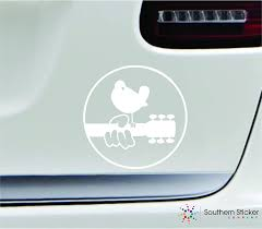 Amazon Com Woodstock Music Festival Oval 4x4 White Instrument Melody Celebration United States America Color Sticker State Decal Vinyl Made And Shipped In Usa Arts Crafts Sewing