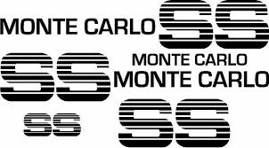 Product 83 84 Chevy Ss Monte Carlo Super Sport Choo Choo Custom Deluxe Vinyl Decal Kit