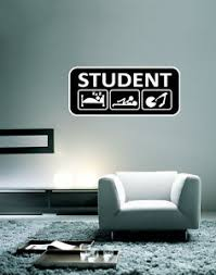 College Student Funny Wall Decal Large Vinyl Sticker 28 X 12 Ebay