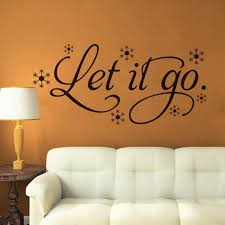 Amazon Com Ussore Wall Sticker Let It Go Snow Vinyl Frozen Words Decor Wall Stickerl Art For Kids Home Living Room House Bedroom Bathroom Kitchen Office Home Decoration Kitchen Dining