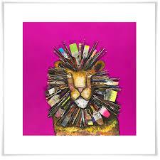 Paintbrush Lion Canvas Wall Art Greenbox