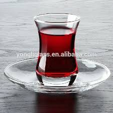 traditional turkish tea glass cup tea