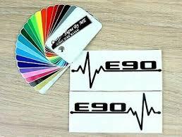 2x Bmw E90 Ekg Car Side Window Mirror Stickers Bumper Vinyl Decal Adhesive Black Ebay