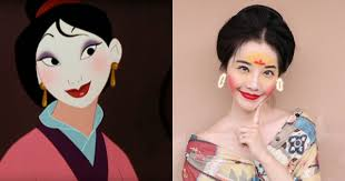 chinese netizens try the mulan makeup