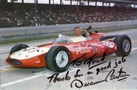 DUANE CARTER AUTOGRAPHED 1963 INDY 500 JUMBO CHAMPION POST CARD   eBay