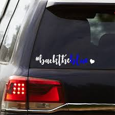 Large Back The Blue Backtheblue Car Decal Police Etsy