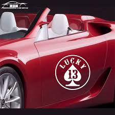 Car Styling Lucky Number 13 Car Stickers Vegas Gamble Funny Laptop Car Window Decal For Bmw Audi Volkswagen Ford Lada Car Window Decals Car Stickerfor Bmw Aliexpress
