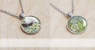 paper and resin pendants resin crafts