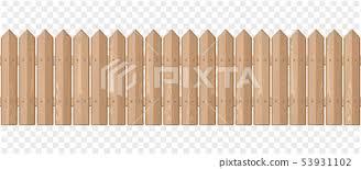 Endless Wooden Fence On A Transparent Background Stock Illustration 53931102 Pixta
