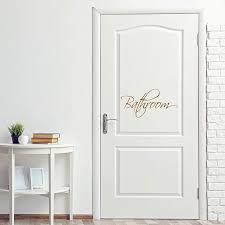 Vwaq Bathroom Door Decal Vinyl Sticker Restroom Decor Home Decorations Walmart Com Walmart Com