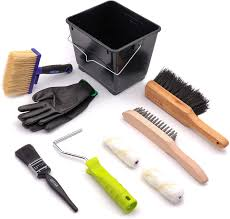 Cottam Fence Painting And Shed Painting Kit Fence Brush Block Brush Roller Paintbrush Paint Bucket Wire Brush Hand Brush Gloves For Use With All Fence Paint And Timbercare Products Amazon Co Uk Garden