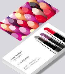 makeup artist business cards modern